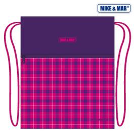 Мешок для сменной обуви Mike&Mar Клетка фиолет / малиновый MB168