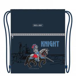 Мешок для сменной обуви Mike&Mar Рыцарь, темно-синий M034