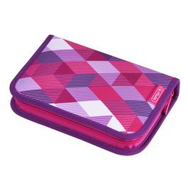 Пенал Herlitz Pink Cubes с наполнением 31 предмет 50020973
