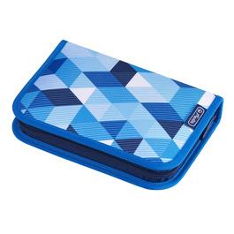 Пенал Herlitz Blue Cubes с наполнением 31 предмет 50021031