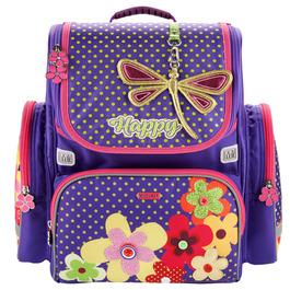Школьный ранец Mike&Mar Цветы (фиол/мал. кант)+мешок 1074-mm-151