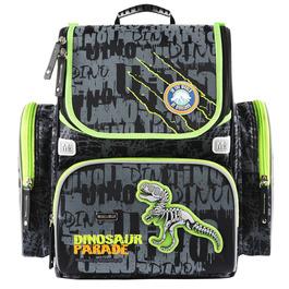 Школьный ранец Mike&Mar Динозавр (черн./сер./зел.кант)+мешок 1074-mm-150