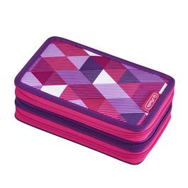 Пенал Herlitz Pink Cube с наполнением 31 предмет 3 молнии 50021062