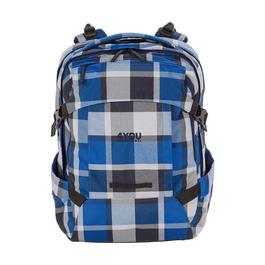 Школьный рюкзак 4YOU Tight Fit Серо-синяя клетка 117000-952