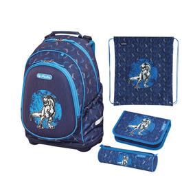 Школьный рюкзак Herlitz Bliss Blue Dino 50014019-set