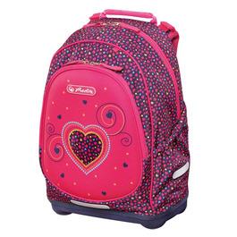 Школьный рюкзак Herlitz Bliss Pink Hearts 50014002 с наполнением