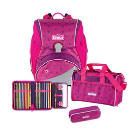 Школьный ранец Scout Alpha Розовые цветы с наполнением 4 предмета 744006930000