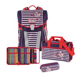Школьный ранец Scout Sunny Веселая полоска с наполнением 4 предмета 73410622900