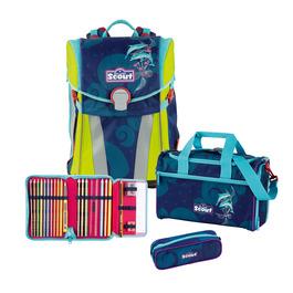 Школьный ранец Scout Sunny Дельфины с наполнением 4 предмета 73410673900