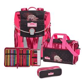 Школьный ранец Scout Sunny Розовый динозавр с наполнением 4 предмета 73410839800