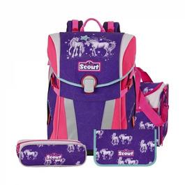 Школьный ранец Scout Sunny Семья единорогов с наполнением 4 предмета 734108-145