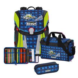 Школьный ранец Scout Sunny Трактор с наполнением 4 предмета 73410891400