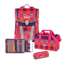 Школьный ранец Scout Sunny Цвет радуги с наполнением 4 предмета 73410642100
