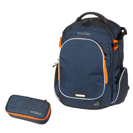 Школьный рюкзак Walker Campus Wizzard Dark Blue Melange 42114/178-set