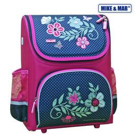 Школьный ранец Mike&Mar Цветы малиновый / синий 1441-mm-128