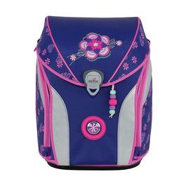 Школьный ранец DerDieDas ErgoFlex Max Фиолетовый цветок с наполнением 8408115