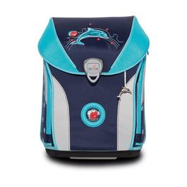 Школьный ранец DerDieDas ErgoFlex Max Сверкающий дельфин с наполнением 8408116