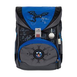 Школьный ранец DerDieDas ErgoFlex Exclusive SuperFlash Синий дракон с наполнением 8405126
