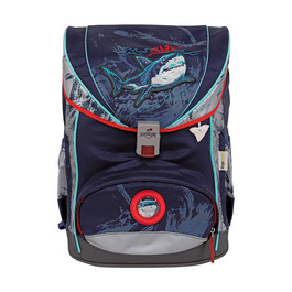 Школьный ранец DerDieDas ErgoFlex Exclusive SuperFlash Синяя акула с наполнением 8405127