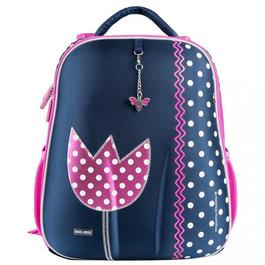 Школьный рюкзак Mike&Mar Тюльпан синий / малиновый кант 1008-174