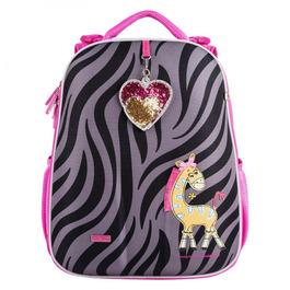 Школьный рюкзак Mike&Mar Зебра серый / малиновый 1008-181