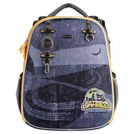 Школьный рюкзак Mike&Mar Путешествие серый / оранжевый кант 1008-192