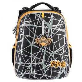 Школьный рюкзак Mike&Mar Паук серый / оранжевый кант 1008-195