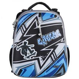 Школьный рюкзак Mike&Mar Экстрим серый / синий кант 1008-196