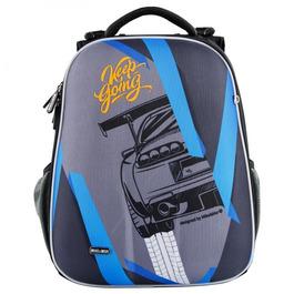 Школьный рюкзак Mike&Mar Машина серый / синий кант 1008-198