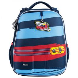 Школьный рюкзак Mike&Mar Спорткар синий / красный кант 1008-199