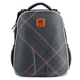 Школьный рюкзак Mike&Mar В клетку серый 1008-200