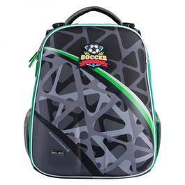 Школьный рюкзак Mike&Mar Футбол темно-серый / зеленый кант 1008-202