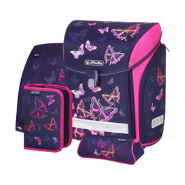 Школьный ранец Herlitz MIDI NEW PLUS Rainbow Butterfly с наполнением 50027613