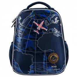 Школьный рюкзак Mike&Mar Самолет т.синий 1008-164