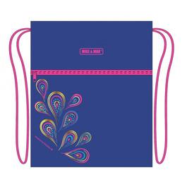 Мешок для сменной обуви Mike&Mar Жар Птица голубой / розовый кант MB203