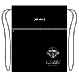 Мешок для сменной обуви Mike&Mar Робот темно-синий MB211