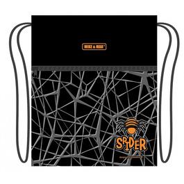 Мешок для сменной обуви Mike&Mar Паук темно-серый / оранжевый кант MB212