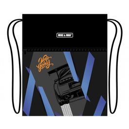 Мешок для сменной обуви Mike&Mar Машина серый / синий MB214