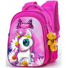 Школьный рюкзак Winner One R1-005 + брелок мишка