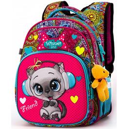 Школьный рюкзак Winner One R3-220 + брелок мишка