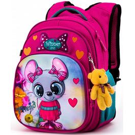 Школьный рюкзак Winner One R3-221 + брелок мишка