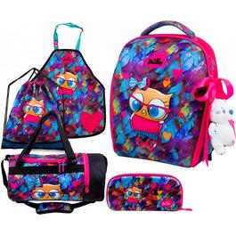 Школьный ранец DeLune Full-set 7mini-015 + мешок + жесткий пенал + спортивная сумка + фартук для труда + мишка + ленточка