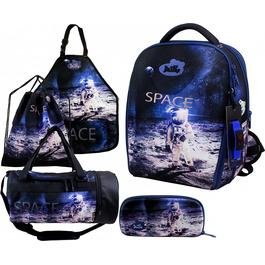 Школьный ранец DeLune Full-set 7mini-019 + мешок + жесткий пенал + спортивная сумка + фартук для труда + часы