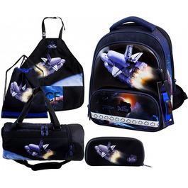 Школьный ранец DeLune Full-set 9-126 + мешок + жесткий пенал + спортивная сумка + фартук для труда + часы