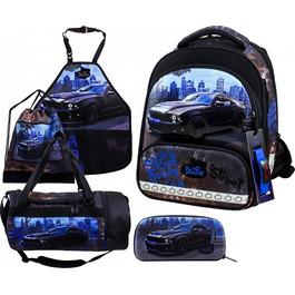 Школьный ранец DeLune Full-set 9-130 + мешок + жесткий пенал + спортивная сумка + фартук для труда + часы