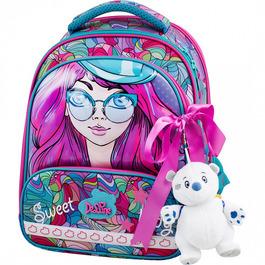 Школьный ранец DeLune 9-122 + мешок + жесткий пенал + мишка + ленточка