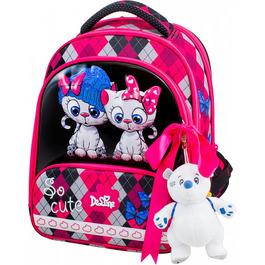 Школьный ранец DeLune 9-124 + мешок + жесткий пенал + мишка + ленточка