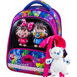 Школьный ранец DeLune 9-125 + мешок + жесткий пенал + мишка + ленточка