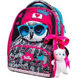 Школьный ранец DeLune 10-003 + мешок + мягкий пенал + мишка + ленточка