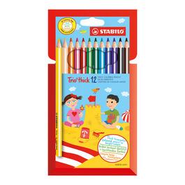 Карандаши STABILO цветные Trio thick 12 цветов (203/12-01)